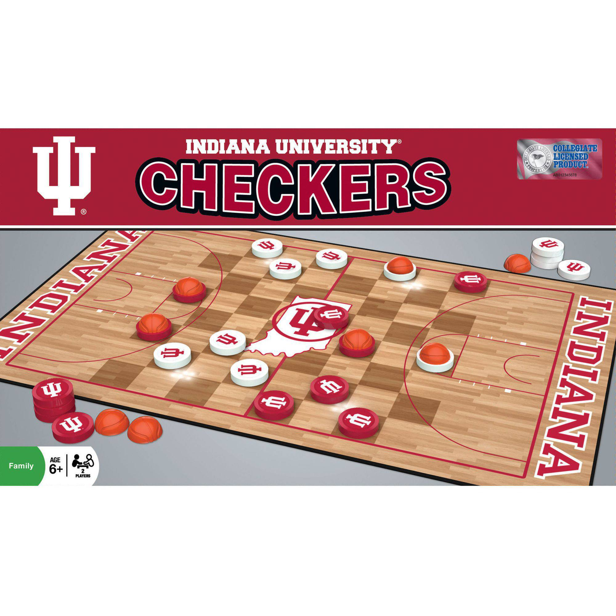 MasterPieces NCAA Indiana Basketball Checkers Game by Generic