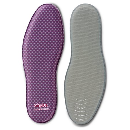 Airplus Memory Comfort Shoe Insoles with Memory Foam for Pressure Relief, Women's, Size