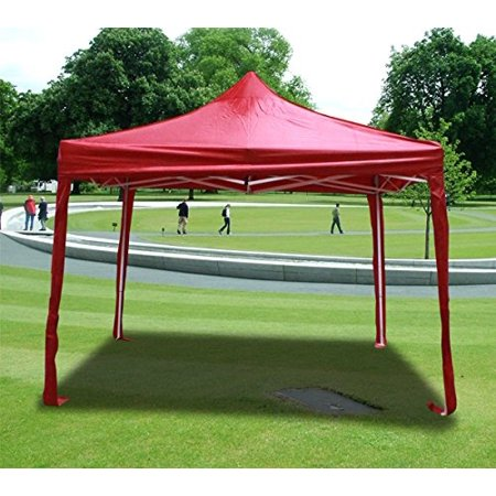 New MTN-G Deluxe Red EZ Canopy Pop Up Tent 10 X 10' Gazebo &