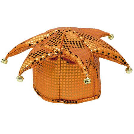 Orange Sequin Jester Costume Hat (1ct)](Jester Hats Wholesale)