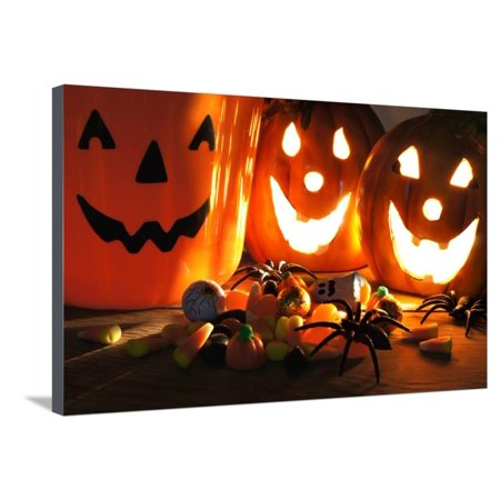 Halloween Treats Stretched Canvas Print Wall Art By Jeni - Fotos De Trajes De Halloween
