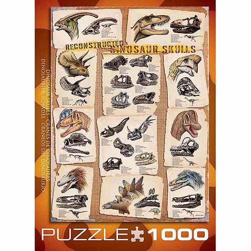 EuroGraphics Dinosaur Skulls 1000-Piece Puzzle