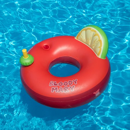 Swimline Bloody Mary Inflatable Adult Drink Swimming Pool Ring Float Tube,  Red