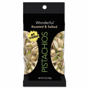 Paramount Farms Wonderful Pistachios, Dry Roasted & Salted, 5 oz, 8 Box by Paramount Farms Inc.