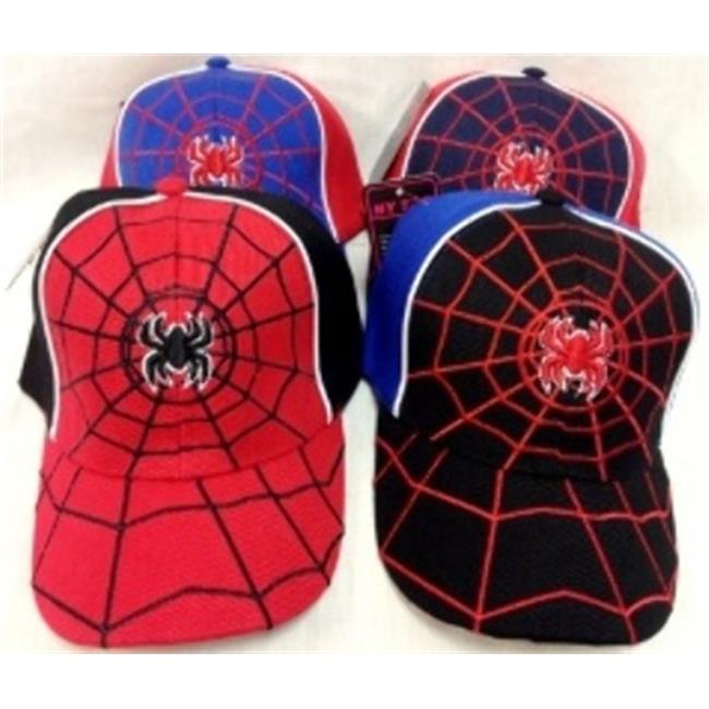 Bulk Buys Kids Spider Baseball Hats Adjustable - Case of 24