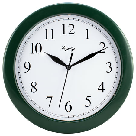 Equity by La Crosse 25205 10 Inch Hunter Green Basics Quartz Wall Clock