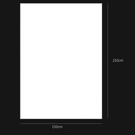 150cm x 210cm White Wall Vinyl Cloth Photography Backdrop Photo Background Studio Props - image 2 de 4