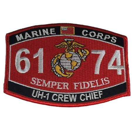 MARINE CORPS 6172 CH-46 CREW CHIEF SEMPER FIDELIS MOS PATCH SEA KNIGHT EGA USMC