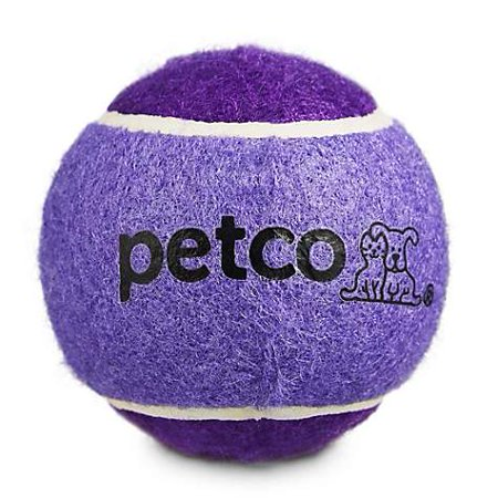 "Petco Tennis Ball Dog Toy in Dark Blue 2.5"" (pack of 1)"