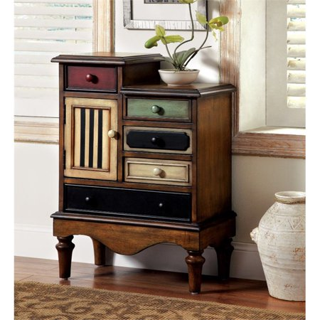 Bowery Hill Vintage Accent Chest in Antique Walnut