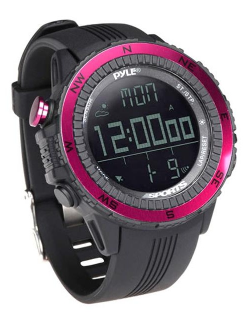 Digital Multifunction Active Sports Watch with Altimeter, Barometer, Chronograph, Compass, Count-Down Timer,... by Pyle