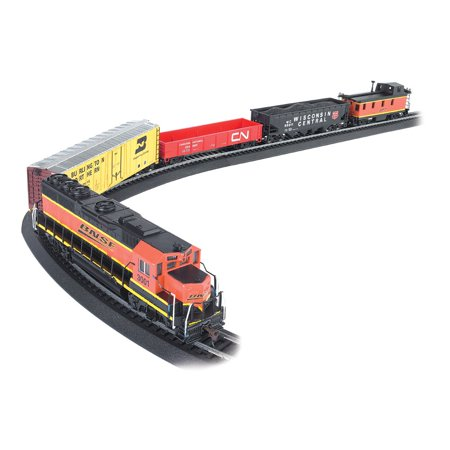 Bachmann Model Railroad - Bachmann Trains Rail Chief BNSF Freight Electric Train Set, HO Scale | 706-BT