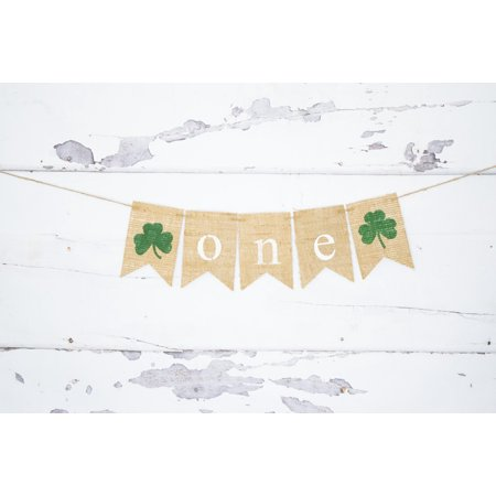 Shamrock One Banner | St. Patrick's Day First Birthday - Diy Birthday Decorations