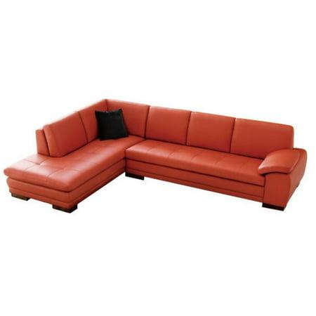 Astounding Jm Furniture 625 Italian Leather Left Sectional In Pumpkin Machost Co Dining Chair Design Ideas Machostcouk