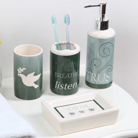 Luxury Home Peace 4 Piece Bathroom Accessory Set