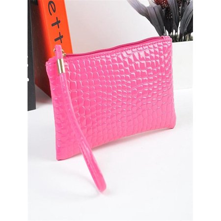 b9026edb8a5d Women Crocodile Leather Clutch Handbag Bag Coin Purse Hot