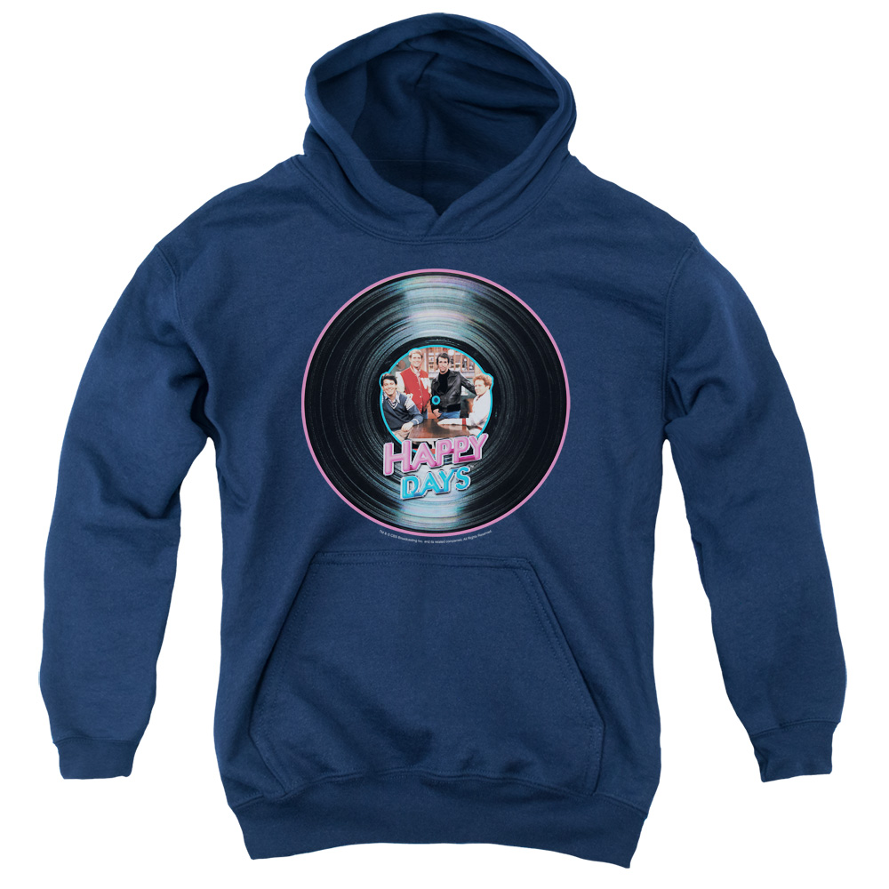 Happy Days On The Record Big Boys Pullover Hoodie