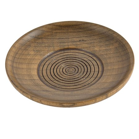 Restaurant Wood Grain Pattern Round Shape Tea Cup Mat Tray Container 10.5cm Dia - image 2 of 2