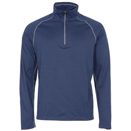 CLOUDVEIL Quarter Zip Pullover Long Sleeve Mock Neck Shirt Navy Blue X-Large XL