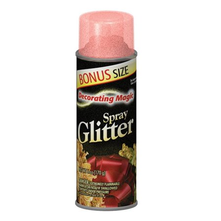 Decorating Magic Red Glitter Christmas Spray - 6 Ounces