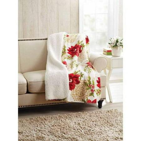 Upc 801418120317 Better Homes And Gardens Traditional Poinsettia Velvet Plush