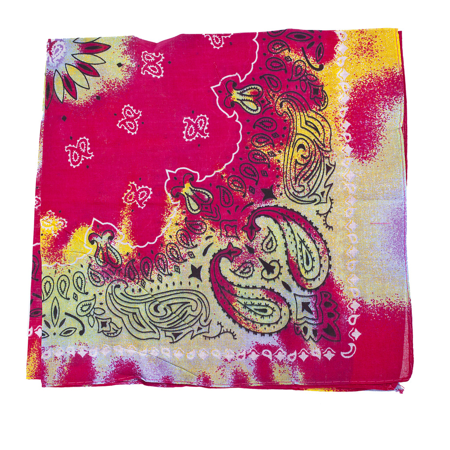 Lux Accessories Red Multicolor Retro Hippie Tie Dye Paisley Fashion Bandana](Hippie Fashion For Guys)