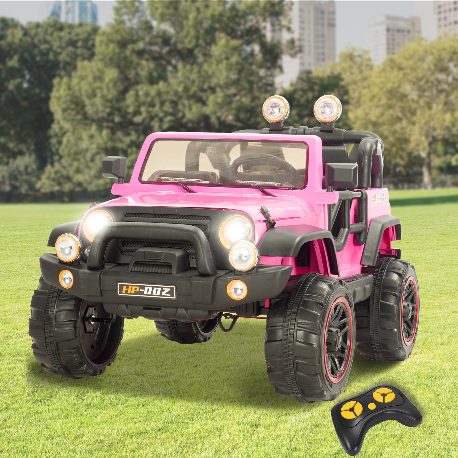 Uenjoy Kids Power Wheels 12V Electric Ride on Cars with Remote Control 2 Speed Pink