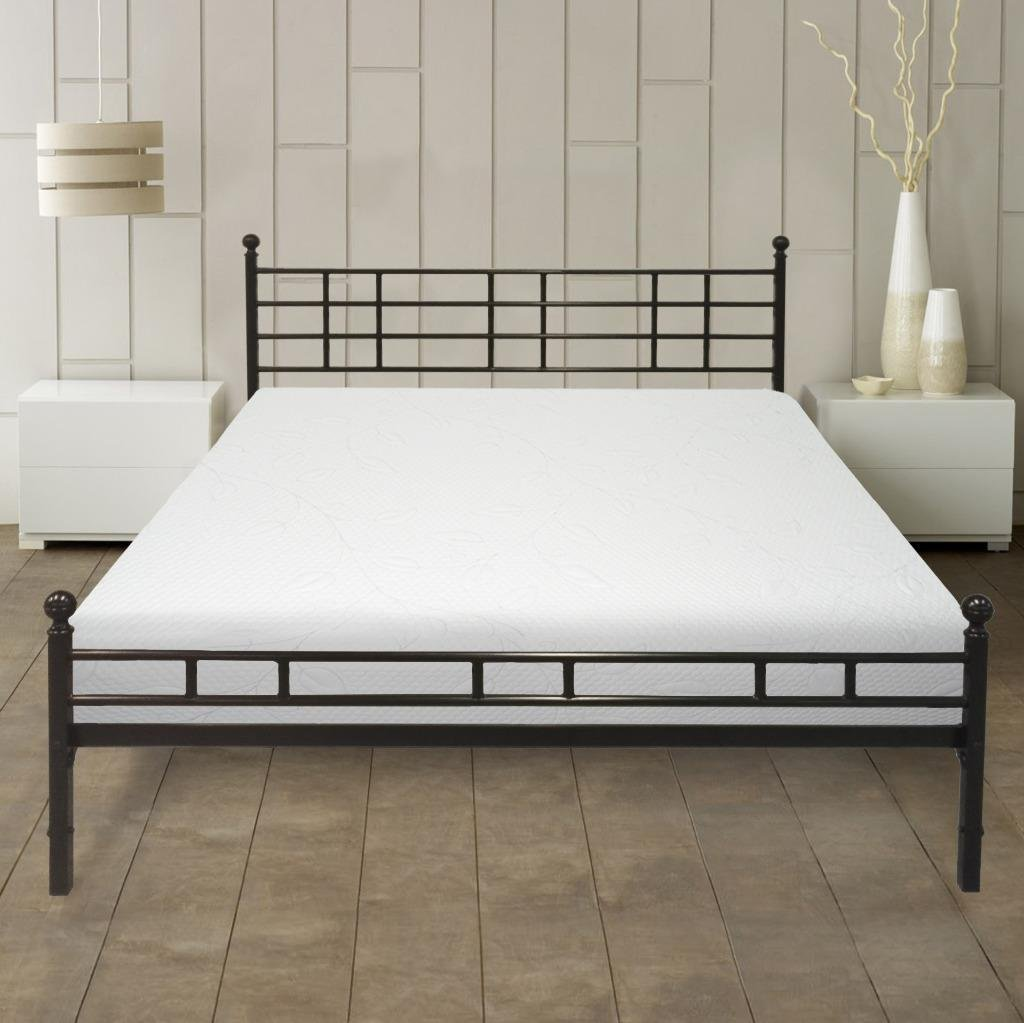 Best Price Mattress 8 inch Air Flow Memory Foam Mattress and Easy Set-up Steel Bed Frame Set, Multiple Sizes