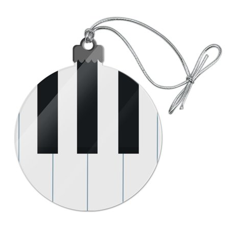 Piano Keys Keyboard Pianist Music Acrylic Christmas Tree Holiday Ornament