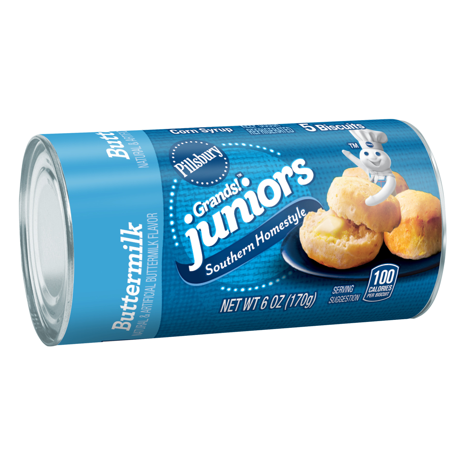 Pillsbury Grands! Juniors Southern Homestyle Buttermilk Biscuits, 5 Ct, 6 oz