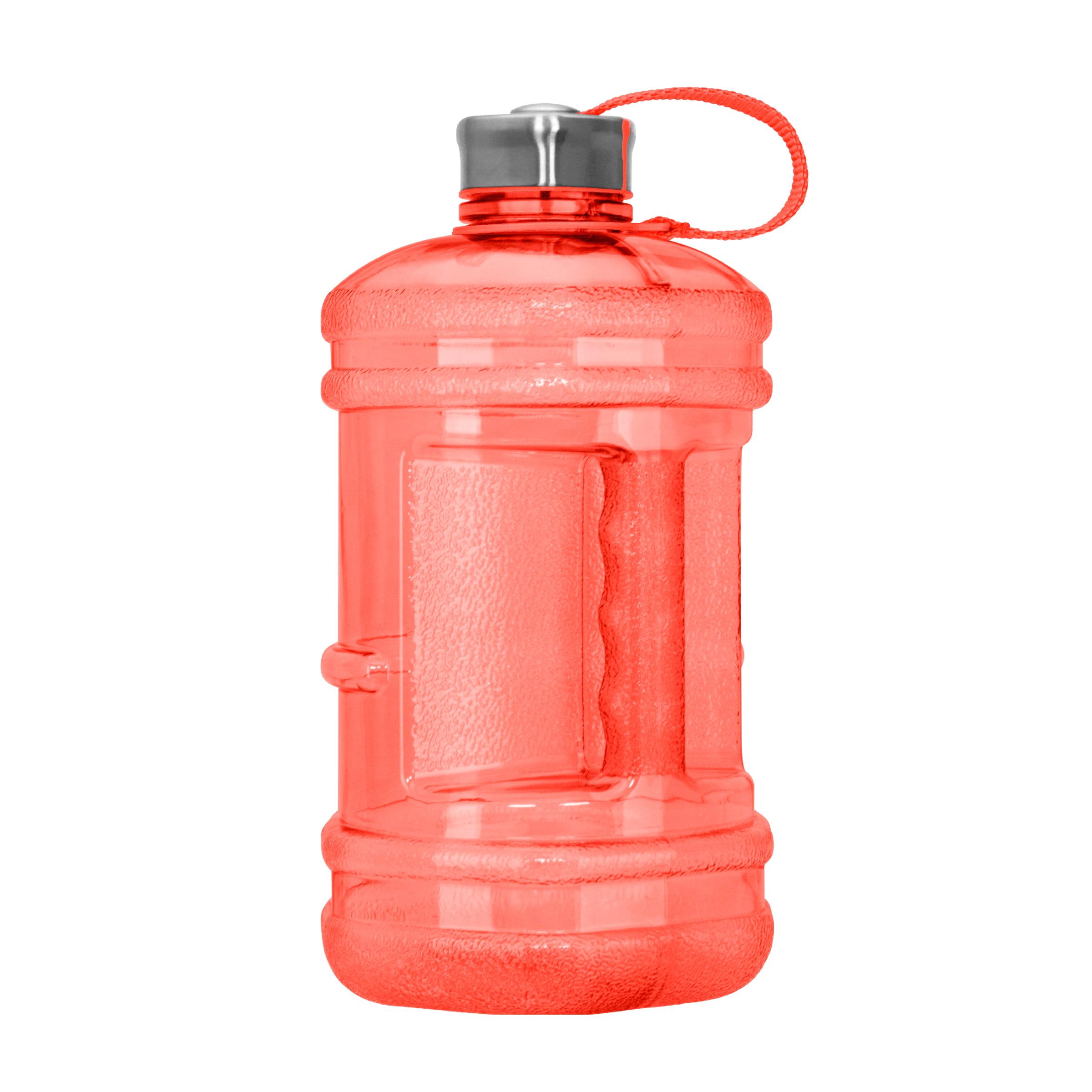 2.3 Liter (77 oz) BPA Free Hexagon Drinking Water Bottle w/48mm Steel Cap (Red)