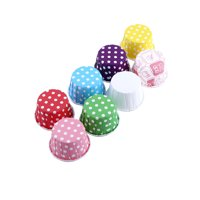 100pcs Paper Cake Cupcake Liner Case Wrapper Muffin Baking Cup for Party Wedding XMAS 8 Colors, Cake Baking Paper, Paper Baking Liner