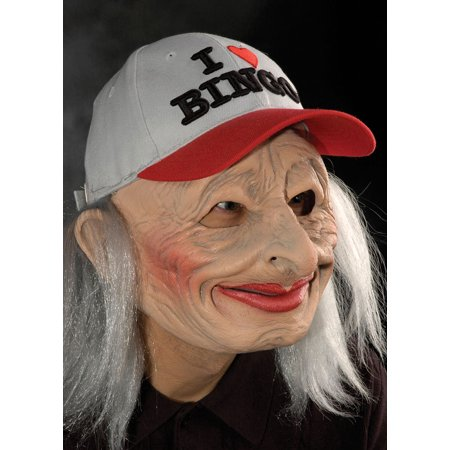 Zagone Halloween Masks (Adult I Love Bingo Oh 69 Lady Full Mask & Hat by Zagone Studios)