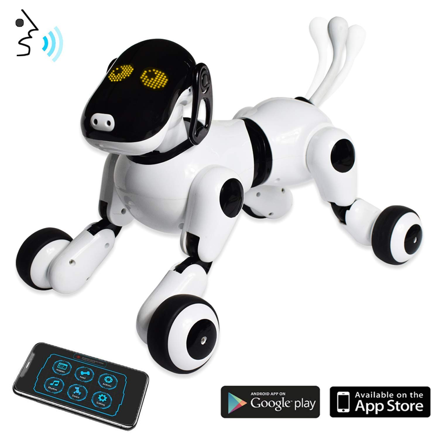 Puppy Smart Voice & App Controlled Kids Robot Dog Toy | Interactive, Dances, Sings, Plays Music w/ Touch Motion Control for Boys & Girls