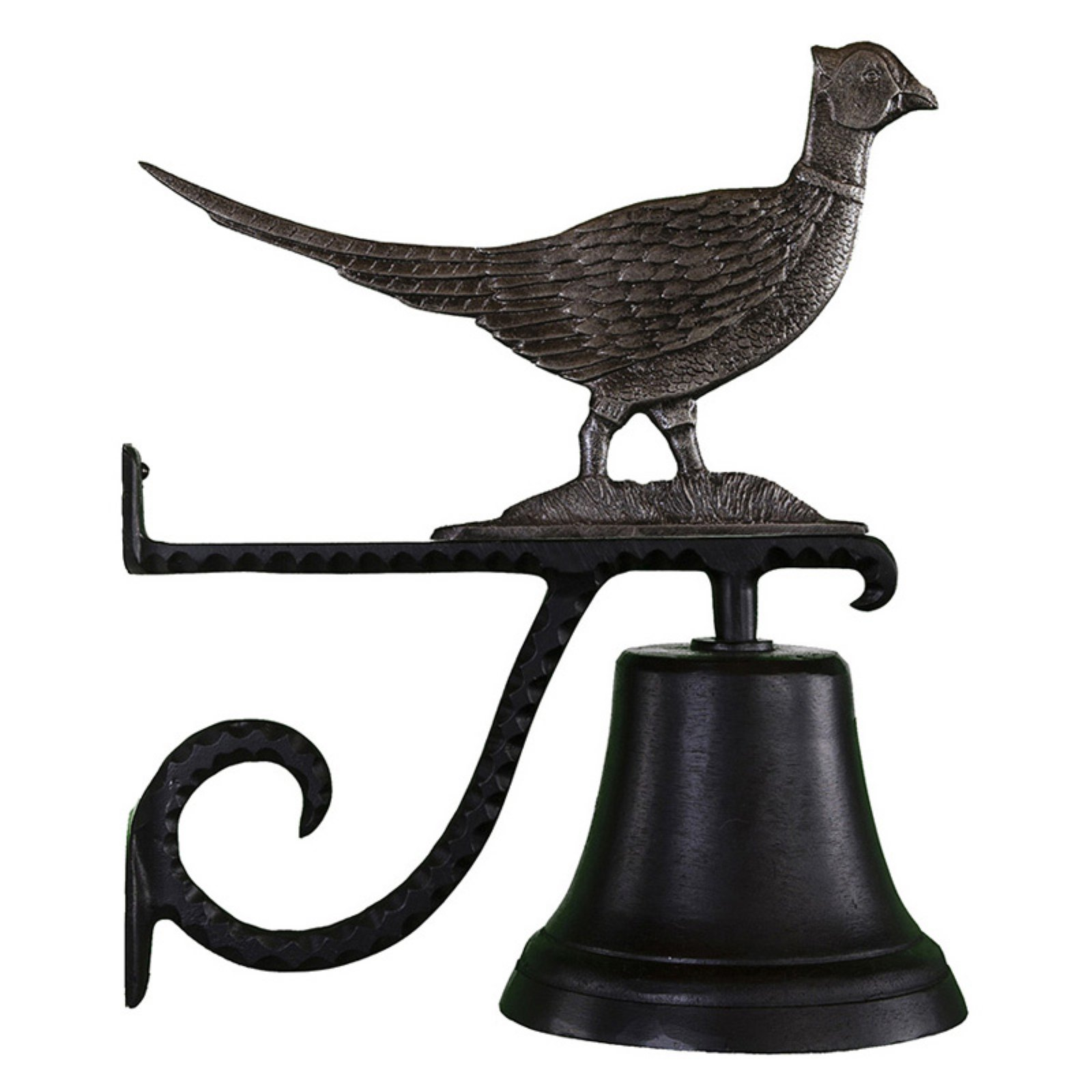 Cast Bell with Swedish Iron Pheasant Ornament