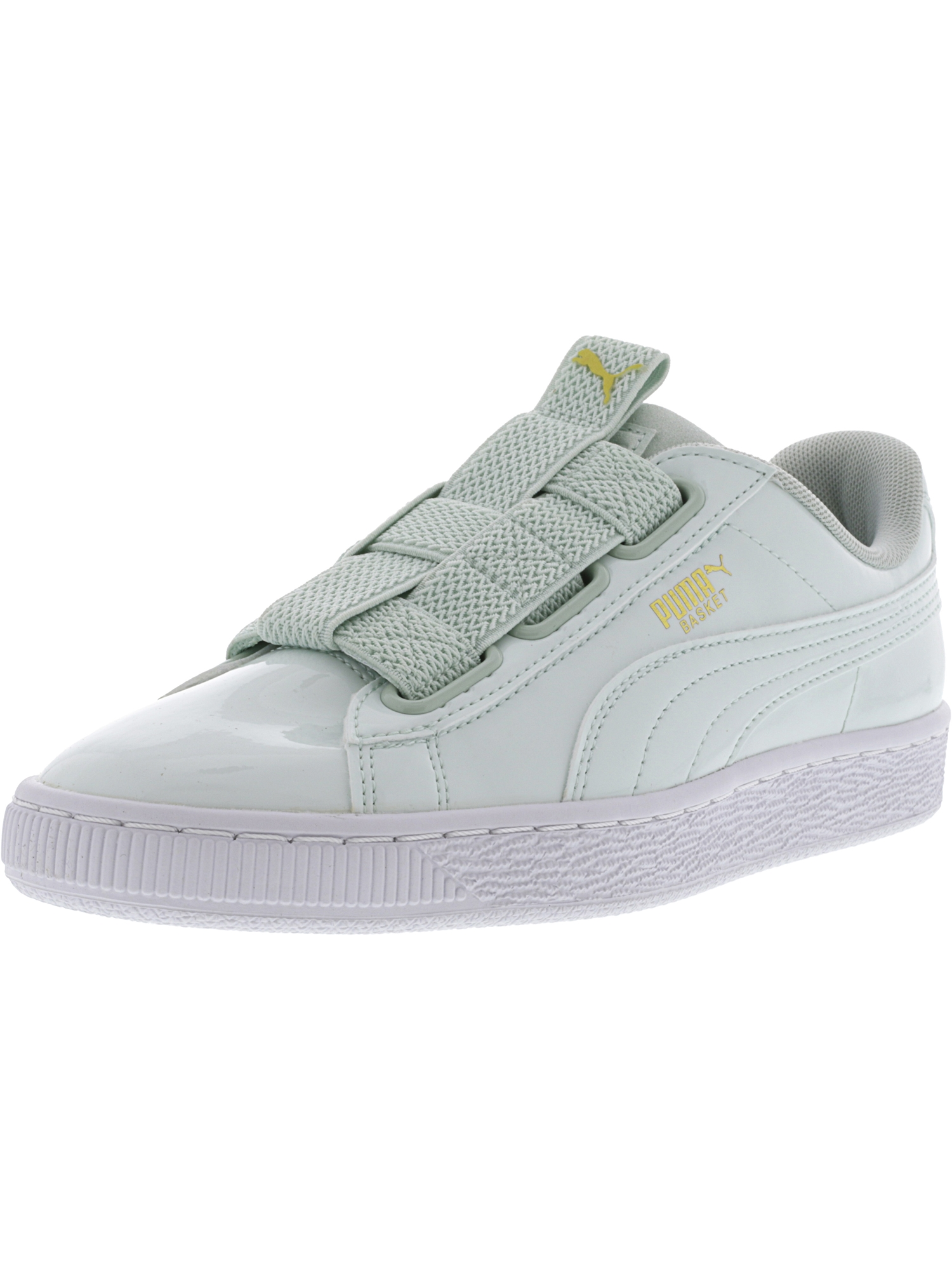 Puma Women's Basket Maze Pearl / White Ankle-High Fashion Sneaker - 9M