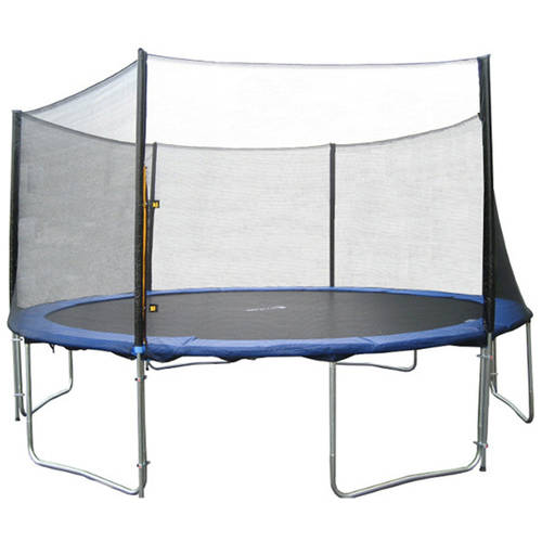 ExacMe 12' Trampoline with Safety Pad And Enclosure Net And Ladder All-In-1 Combo Set