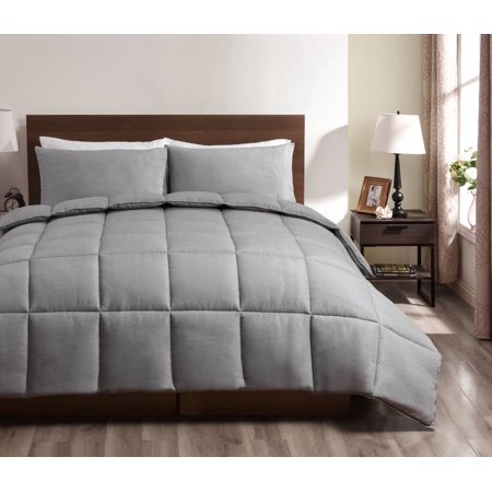 Super Collection 3pc Reversible Down Alternative Comforter set Grey Color | Full/Queen Size Bed - Halloween Comforter