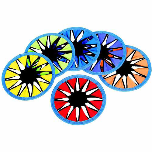 "Sportime ColorsTwist Flying Disc Set, 12"" Diameter, Assorted Colors, Set of 6"