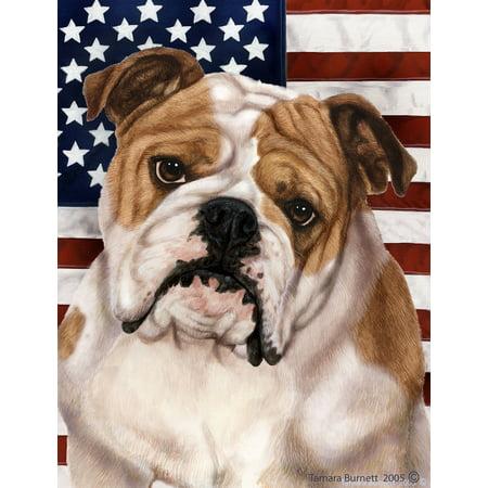 Bulldog - Best of Breed Patriotic II Garden Flags