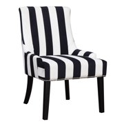 "ACCENT CHAIR, NAVY/WHT, ;27.00 X 25.00 X 38.00""H"
