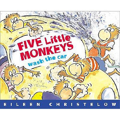 5 Paperback Books - Five Little Monkeys Wash the Car (Paperback)