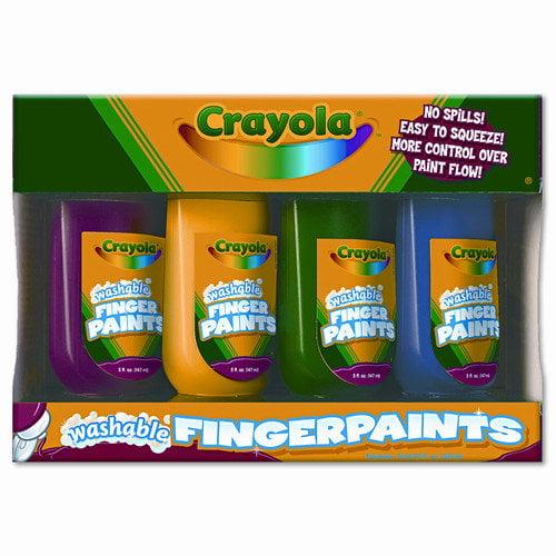 Crayola LLC Washable Fingerpaint Pack, 4 Oz Tubes, 4/Pack