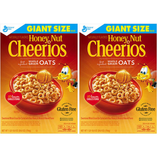 Honey Nut Cheerios Gluten Free Cereal, 26.6 oz(Pack of 2)