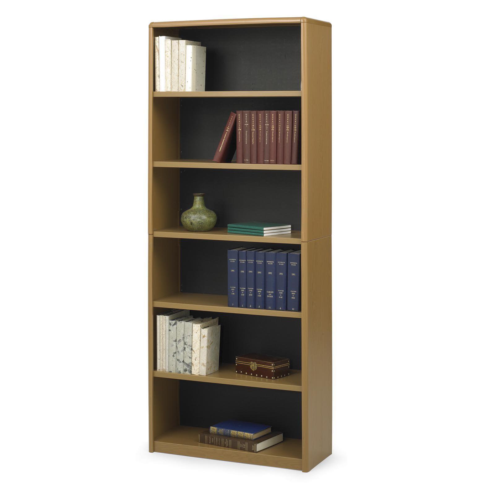 Safco 6-Shelf ValueMate Economy Bookcase 7174MO (Medium Oak)