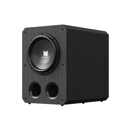 Thx Certified S-video (Monoprice Monolith 12 Inch Powered Subwoofer - Black | THX Select Certified, 500 Watt Amplifier, 12 Inch Driver For Studio & Home Theater)