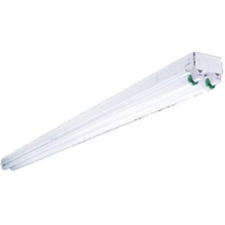 8', Metalux 2 Lamp Fluorescent Strip, 120V, Flip Up Socket Design - Compact Fluorescent Recessed 2 Lamp