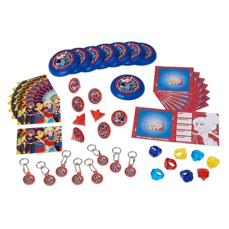 DC Super Hero Girls Party Favor Value Pack, 48-piece mixed value pack! By American Greetings - Superhero Party Ideas