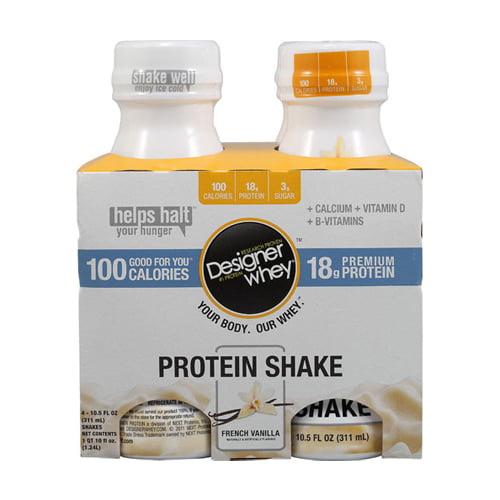 Designer Whey Protein Shake French Vanilla - 10.5 fl oz Each / Pack of 4