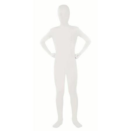 Kids 2nd Skin White Body Suit Medium - 2nd Skin Suit